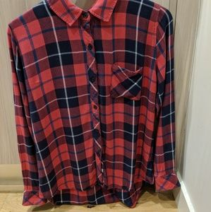 Rails M Button Down Top Plaid